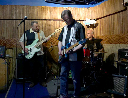The Aquatudes at Otto's Shrunken Head gig on Saturday, 5/5/18.